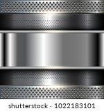 metallic background polished... | Shutterstock .eps vector #1022183101