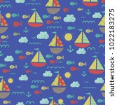cute seamless pattern with... | Shutterstock .eps vector #1022183275