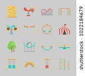 icons about amusement park with ... | Shutterstock .eps vector #1022184679
