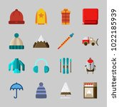 icons about winter with... | Shutterstock .eps vector #1022185939