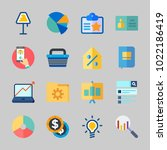 icons about business with idea  ... | Shutterstock .eps vector #1022186419