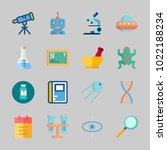 icons about science with ufo ...   Shutterstock .eps vector #1022188234