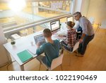 upper view of students in class ... | Shutterstock . vector #1022190469