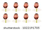 businessman with different... | Shutterstock .eps vector #1022191705