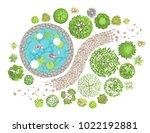 vector illustration. landscape... | Shutterstock .eps vector #1022192881