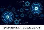 vector illustration white gear... | Shutterstock .eps vector #1022193775