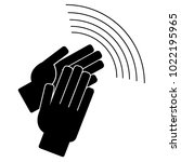 clapping hands on a white... | Shutterstock .eps vector #1022195965