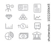 business and finance icons with ... | Shutterstock .eps vector #1022200645