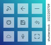 user icons line style set with... | Shutterstock . vector #1022205709