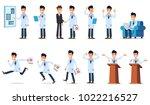 big set of doctor character in... | Shutterstock .eps vector #1022216527