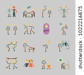 icons about human with male ... | Shutterstock .eps vector #1022216875
