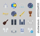icons about music with music...   Shutterstock .eps vector #1022216935