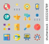icons about business with... | Shutterstock .eps vector #1022218789