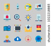 icons about seo with search... | Shutterstock .eps vector #1022218885