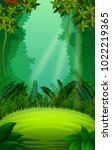 clean and green forest | Shutterstock .eps vector #1022219365