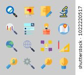 icons about inspiration with... | Shutterstock .eps vector #1022220517