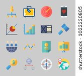 icons about business with... | Shutterstock .eps vector #1022220805