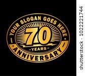 70 years anniversary.... | Shutterstock .eps vector #1022221744