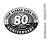80 years anniversary....   Shutterstock .eps vector #1022221747