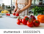close up of unrecognizable cook ... | Shutterstock . vector #1022222671