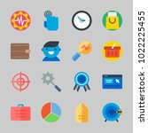 icons about commerce with...   Shutterstock .eps vector #1022225455