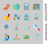 icons about science with loupe  ... | Shutterstock .eps vector #1022225539
