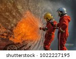 fire and rescue training school ... | Shutterstock . vector #1022227195