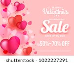 illustration of valentines day... | Shutterstock .eps vector #1022227291