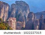 beautiful view of monasteries... | Shutterstock . vector #1022227315