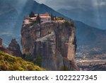 beautiful view of monasteries... | Shutterstock . vector #1022227345