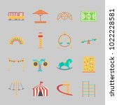 icons about amusement park with ... | Shutterstock .eps vector #1022228581
