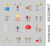 icons about human with birthday ... | Shutterstock .eps vector #1022228617