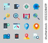 icons about seo with target ... | Shutterstock .eps vector #1022228659