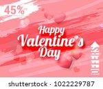 illustration of valentines day... | Shutterstock .eps vector #1022229787