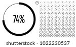 set of circle percentage... | Shutterstock .eps vector #1022230537