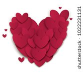 heart valentines day cut out... | Shutterstock .eps vector #1022231131