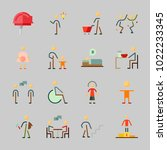 icons about human with pregnant ... | Shutterstock .eps vector #1022233345