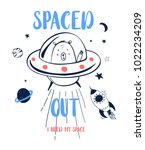 spaced out slogan and... | Shutterstock .eps vector #1022234209