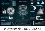 mechanical scheme  vector... | Shutterstock .eps vector #1022236564