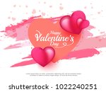 illustration of valentines day... | Shutterstock .eps vector #1022240251