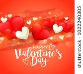 illustration of valentines day... | Shutterstock .eps vector #1022240305