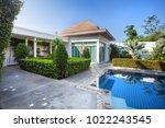interior and exterior design of ...   Shutterstock . vector #1022243545