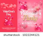 illustration of valentines day... | Shutterstock .eps vector #1022244121