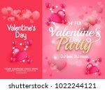 illustration of valentines day... | Shutterstock .eps vector #1022244121