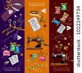 tailor banners vector. studio... | Shutterstock .eps vector #1022249734