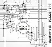 blockchain network concept  ... | Shutterstock .eps vector #1022254144