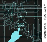 blockchain network concept  ... | Shutterstock .eps vector #1022260174