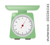 domestic weigh scales icon.... | Shutterstock .eps vector #1022261161