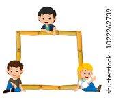 vector illustration of kids on...   Shutterstock .eps vector #1022262739