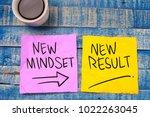 new mindset new result. self... | Shutterstock . vector #1022263045
